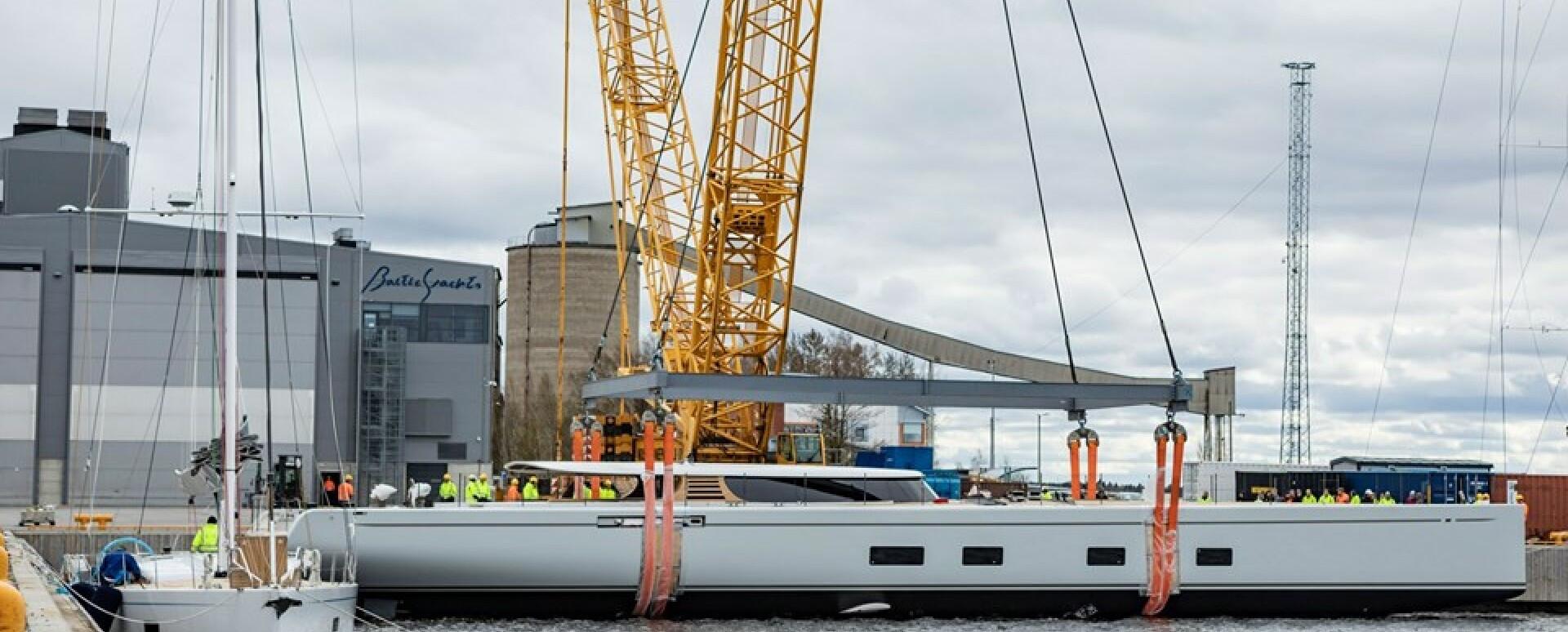 Baltic Yachts launch innovative foiling sailing superyacht Canova