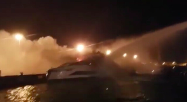 Brand new Tecnomar Evo 120 destroyed by fire