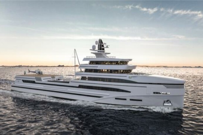85m Spadolini Helipad Expedition Yacht
